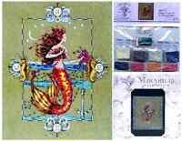 MIRABILIA Cross Stitch PATTERN & EMBELLISHMENT PACK Gypsy Mermaid MD126