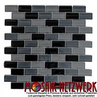 Glasmosaik Verbund mix schwarz Fliesenspiegel Küche Wand Art: 76-0208 | 10Matten