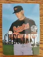 1996 96 Fleer Ultra Cal Ripken Jr Gold Medallion Checklist #9 of 10 nice card