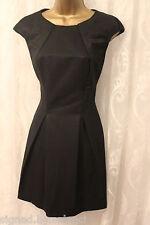 Karen Millen Structured Bubble Hem Pleat Fold Panel Black Party Dress 10 38