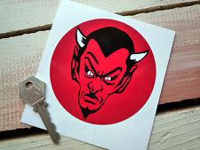 RED Devil 100mm Adesivo ROCKERS mod Custom Hot Rod EVIL Satana BIKER HARLEY ROCK