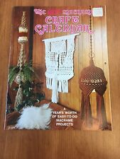 Vintage 1977 Macrame Craft Calendar Book, Wall Hangings & Plant Hangers