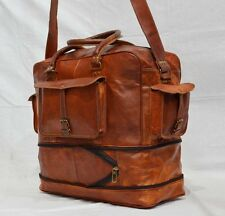 Real leather messenger flexible handmade luggage travel briefcase vintage bag