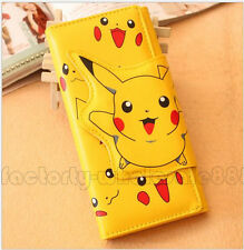 Pokemon go Pikachu fashion cartoon Children wallet long Fold purses bag gifts
