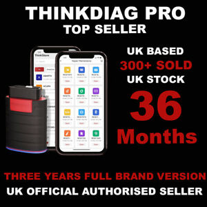 THINKDIAG Advanced OBD2 Diagnostic Device Including All Car Brands For 36 Months