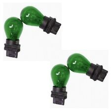 4x 3157 Green Bright Light Bulbs Car Auto Signal Turn Backup S8 Miniature Lamp
