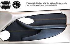 Tarjeta De Punto Amarillo puerta frontal 2X Cuero Ajuste Cubre se ajusta Pontiac Firebird 93-02