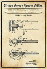 Noi Brevetto Tagliacapelli 1919 Segno Metallo Insegna Targhe 20 x 30 cm P0148