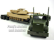 Freightliner Lowboy W/ M1 Abrams Tank 1/32 Scale Diecast and Plastic Model
