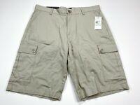 Calvin Klein Mens 34 Fennel Lifestyle Cargo Shorts Tan Pocket Flaps NEW NWT