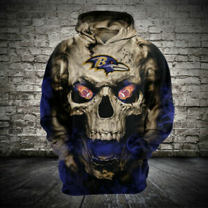 Baltimore Ravens Hoodie Pullover Sports Sweatshirt Leisure Hooded Jacket Gifts