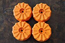 4 LEGO Large Hard Plastic Wheels Orange Mars Mission 54cm x 30cm 7694 2515 7697