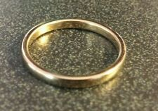 Gold Plated Tungsten Unisex Wedding Band Ring 2mm size 6
