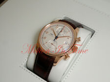 IWC Portuguese Chronograph Classic Rose Gold 42mm Silver Dial on Strap IW390402