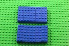 10 X  lego 2 X 6  Brick (Blue) 4181139