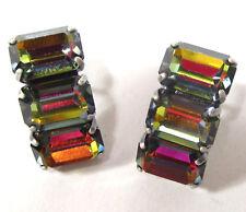 SoHo® Ohrstecker mit vintage 1960`s baguette Kristalle crystal volcano Art deco