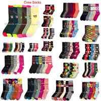 6-12 Men Women Crew Solid Multi Pattern Wild Knit Stripe Argyle Snow Socks 9-11