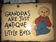 "handpainted slate roof tile ""grandpas are just antique little boys"""