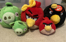 """5 Lot Angry Birds Green Pig 5"""" Baby Green Red Girl Bird Baby Red And Black Bird"""