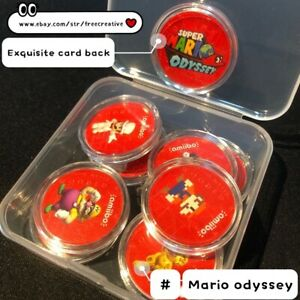 Super Mario Odyssey NFC coins Amiibo Compatible Card Set of 10