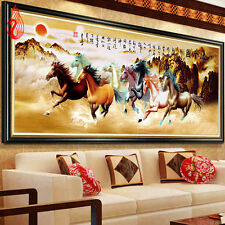 5D DIY Embroidery Eight Horses Win Instant Success Diamond Painting Cross Stitch