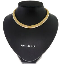 Exclusive Cubic Zirconia Pearl Designer Only Chain Necklace NK WH 193