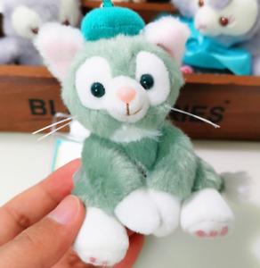 "New Disney Sitting Gelatoni Cat Mini Soft Plush Stuffed Toys Pendant 4""/10cm"
