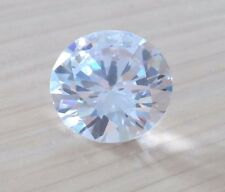 Unheated 6mm AAA White Sapphire Round Faceted Cut 1.18ct VVS Loose Gems