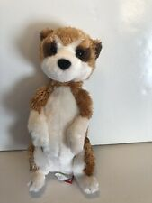 "Douglas Toy Plush Mack Meerkat 10"" Tan and White"