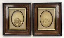 New ListingPair Antique Late 19th C Eastlake Walnut Frames Original Photos 8 x 10 Openings