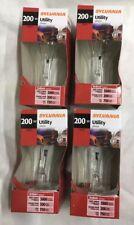 200 Watt Clear Incandescent Light Bulb 200A/Cl 120V A21 Sylvania #15476 4-pcs