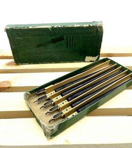 Set of 6 Vintage Keuffel & Esser Co. Barch-Payzant 3225 Freehand Lettering Pens