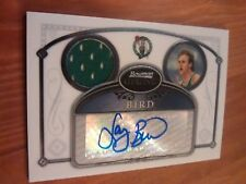 2007 Bowman Sterling Larry Bird Autograph Jersey Card Celtics