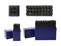 """3/16"""" 5 MM Capital Letter Punch Stamp Set Metal-Steel-Gold-Silver 36 Piece A-Z"""