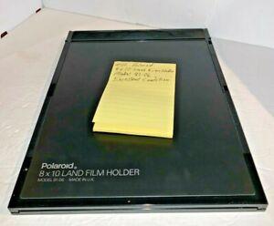 #112 Polaroid 8x10 Land Film Holder Model 81-06 and Manual EXCELLENT CONDITION