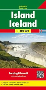Iceland Road Map (Country Road & Touring): Wegenkaart 1:400 000 Sheet map Book