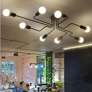 Industrial 6/8 Lights Sputnik Chandelier Pendant Lamp Ceiling Lighting Fixture