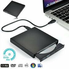 Portable External DVD Disc Drive USB 2 Windows MacBook Mac Apple Burner Player