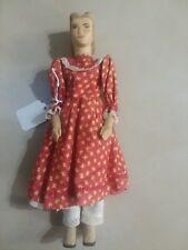 """Wood Doll by Helen Bullard 1953 Signed Tagged Marked Holly Dolls Ozone,Tenn 10"""""""