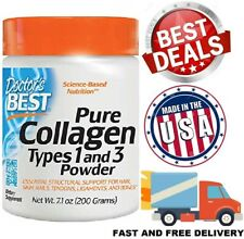 HYDROLYZED COLLAGEN POWDER PROTEIN Healthy Bones Joints Hair Skin Nails 30 Serv