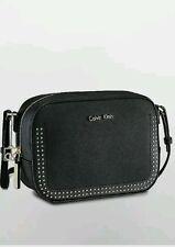 calvin klein womens scarlett city camera bag crossbody black with studs