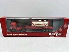 "H0 / 1:87..HERPA--MB LKW Sattelzug mit Tank ""HOYER""  / 2 D 043"