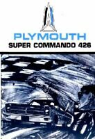 OEM Maintenance Owner's Manual Bound for Plymouth 426 Supercommando 1965
