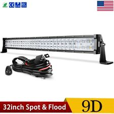 "32 inch LED Light Bar 9D Spot Flood Combo Offroad Driving Truck 4WD 32"" + Wiring"