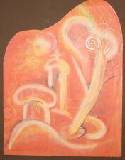 1994 Avant garde pastel drawing landscape signed