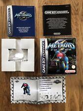 Metroid Fusion für Gameboy Advance nur OVP und Anleitung (OHNE Modul)