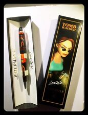 Penna 1996-1999 Waterman Pen RED a sfera collezione Lara Croft Tomb Raider RARE