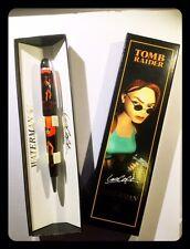 Penna 1996-1999 Waterman Pen RED a sfera collezione Lara Croft Tomb Raider RARE