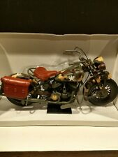 WW2 US Army Indian Chief Motorcycle 1998, 1:6. Never displayed. On stand.