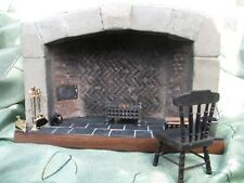 Dolls House 12th Scale Handmade Collectors Fireplace Tudor Style